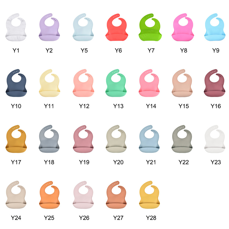 Amazon Best Selling Easily Clean Food Grade Waterproof Silicone Baby Bib With Custom logo comfortable silicon baby soft bibs