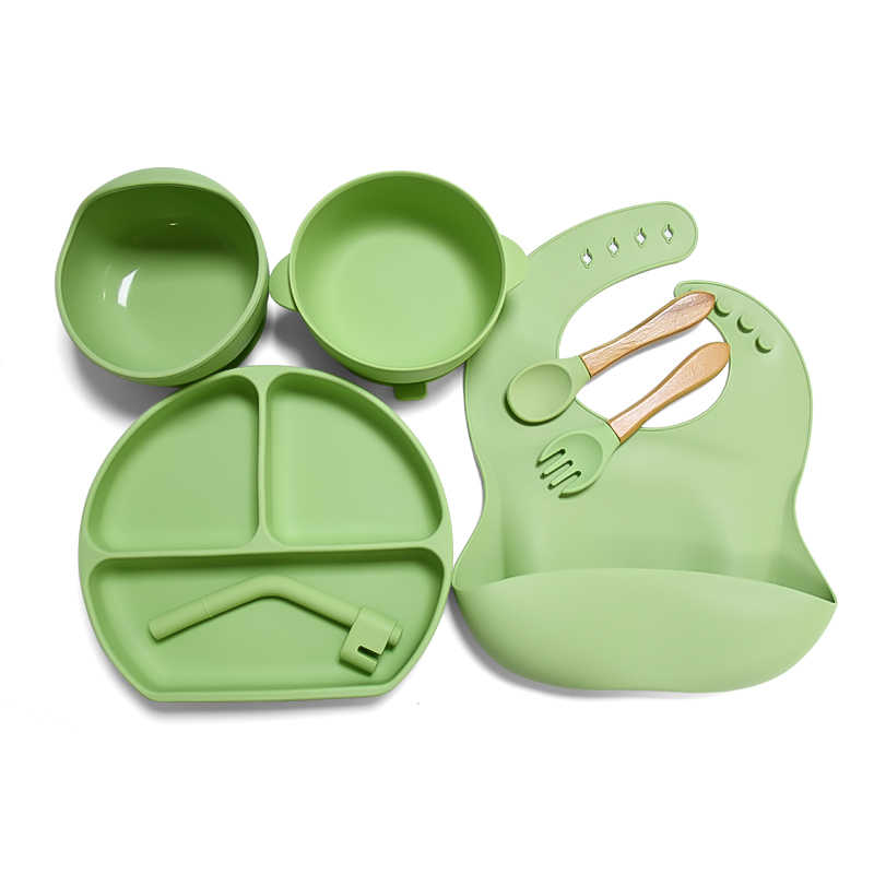 Wholesale Funny Resusable Bpa Free Baby Silicone Plate Feeding Suction Cup Silicone Bowl Plate Set