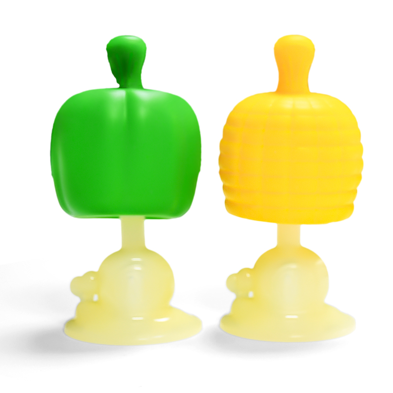 New Design Fruit and vegetable shape food grade baby silicone baby teethers