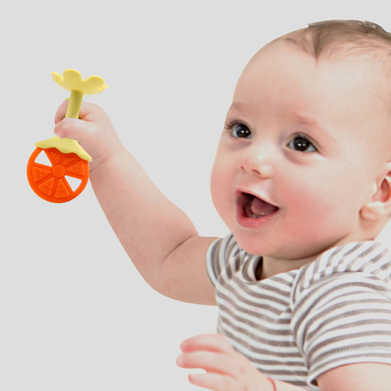Wholesale New Bpa Free fruit  Chewabl teether Soft Food Grade silicone baby  teether toy