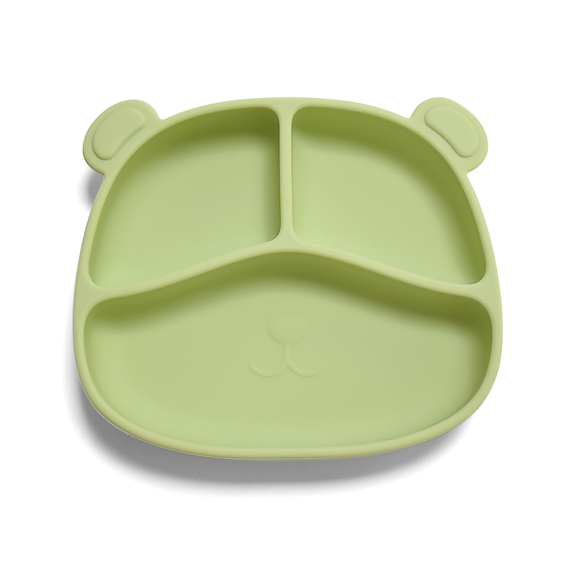 Non-Slip Toddlers Food Feeding plate bpa free food grade baby silicone animal plate