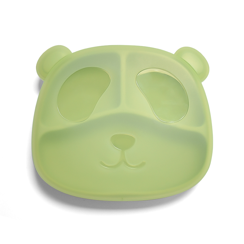 Legenday New Arrival Eco-friendly Non-toxic Strong Suction feeding plate Baby Silicone portion Plate with cover