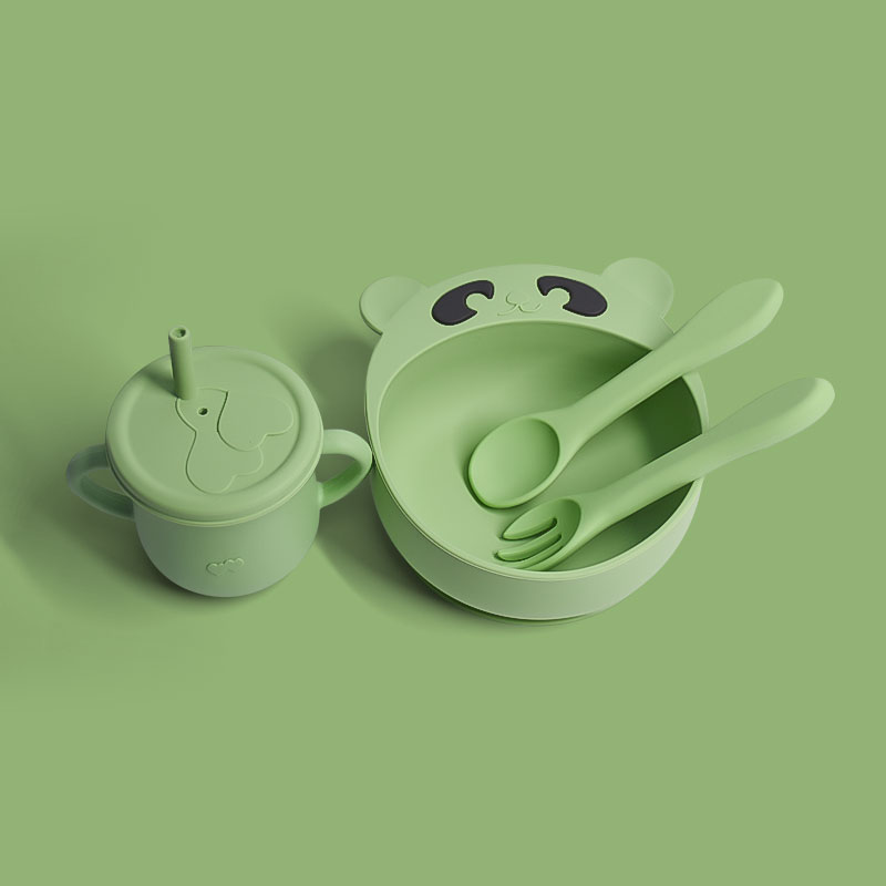 Legenday Eco Frinedly Food Grade Silicone Baby Feeding Bowl No-Spill Silicone Baby Suction Bowl With Spoon