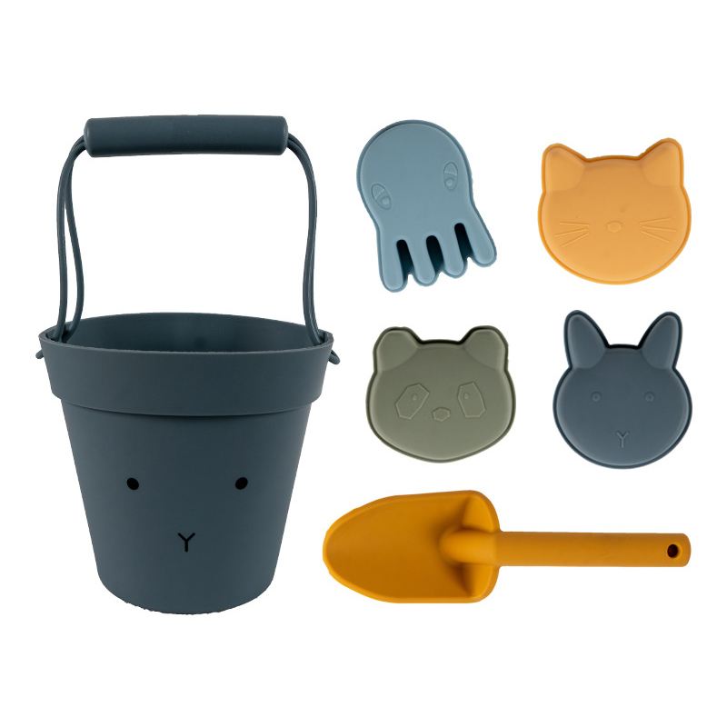 Popular Recommend Baby Bucket Mold Silicone Beach Sand Toy Large Set For Kids