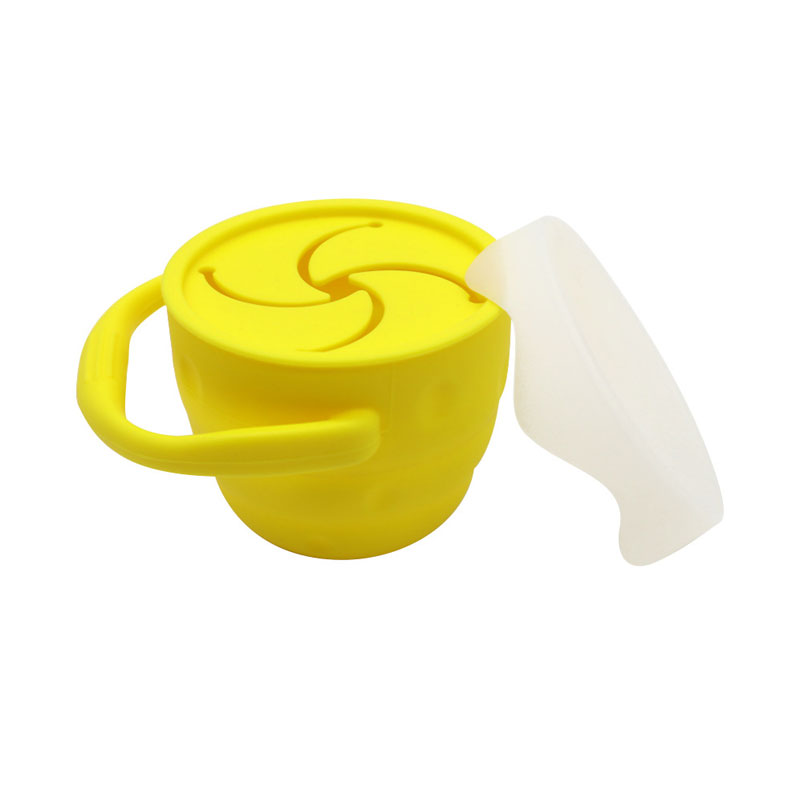 Food Storage Container Drinking Water Holder Infants No Spil Straw Toddler Sippy cup Silicone Snack Baby Cup with lid