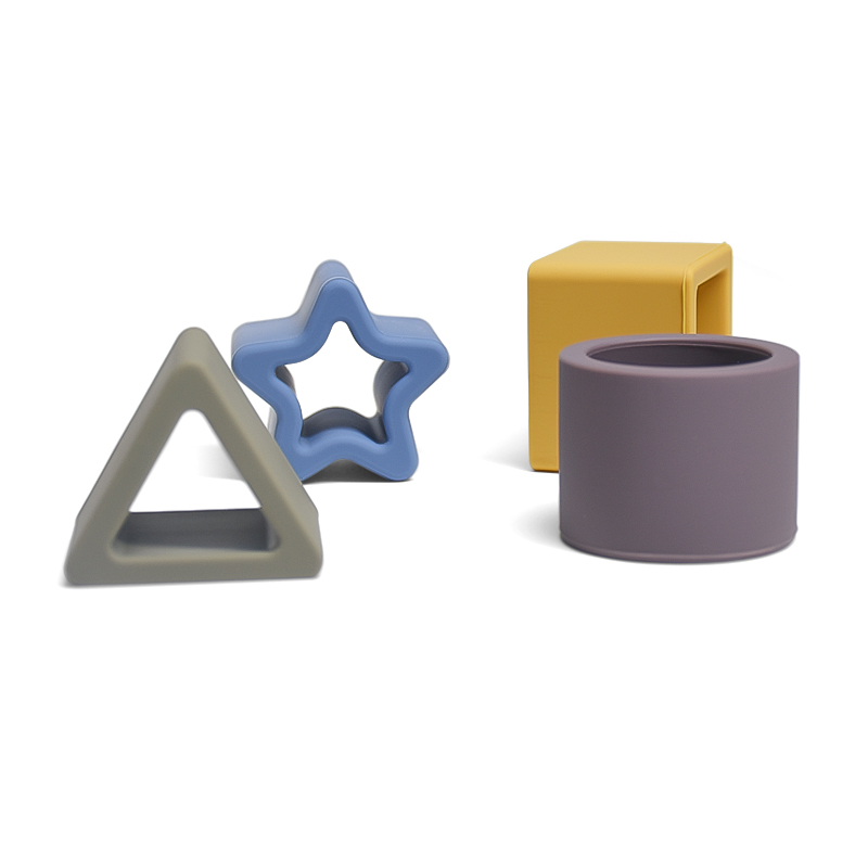 Creative Heart Sublimation Geometry kids toddler shape geometric silicone toy puzzles