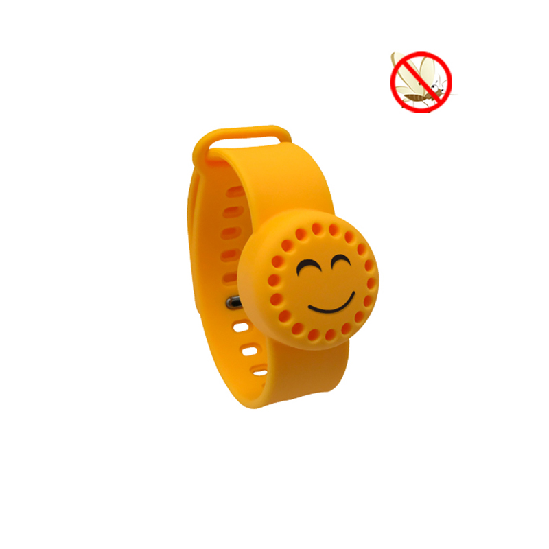 Factory Price Baby Safe Cartoon Silicone Mosquito Repellent Bracelet Band