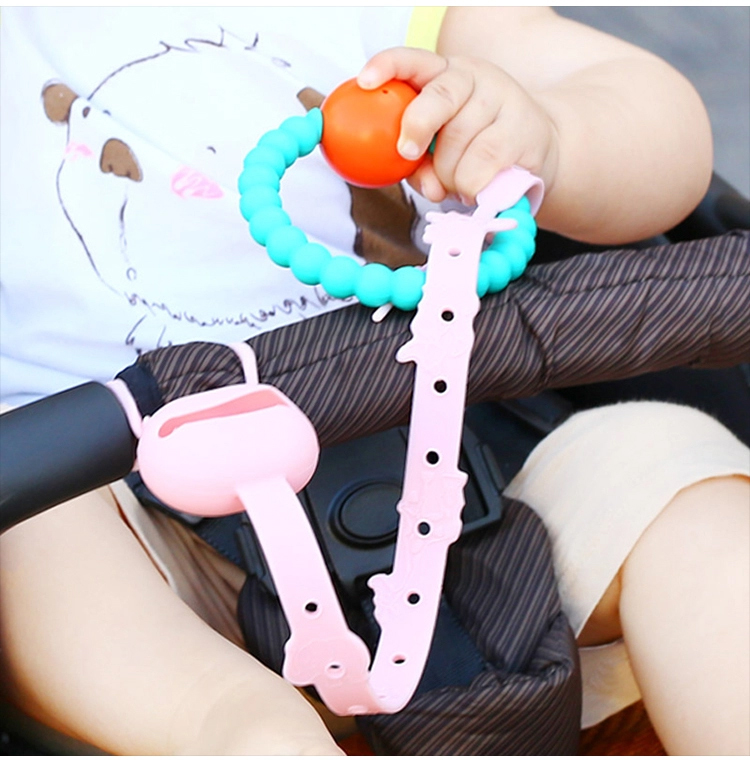 Wholesale BPA Free Baby Silicone Toy Safety Straps Pacifier Chain