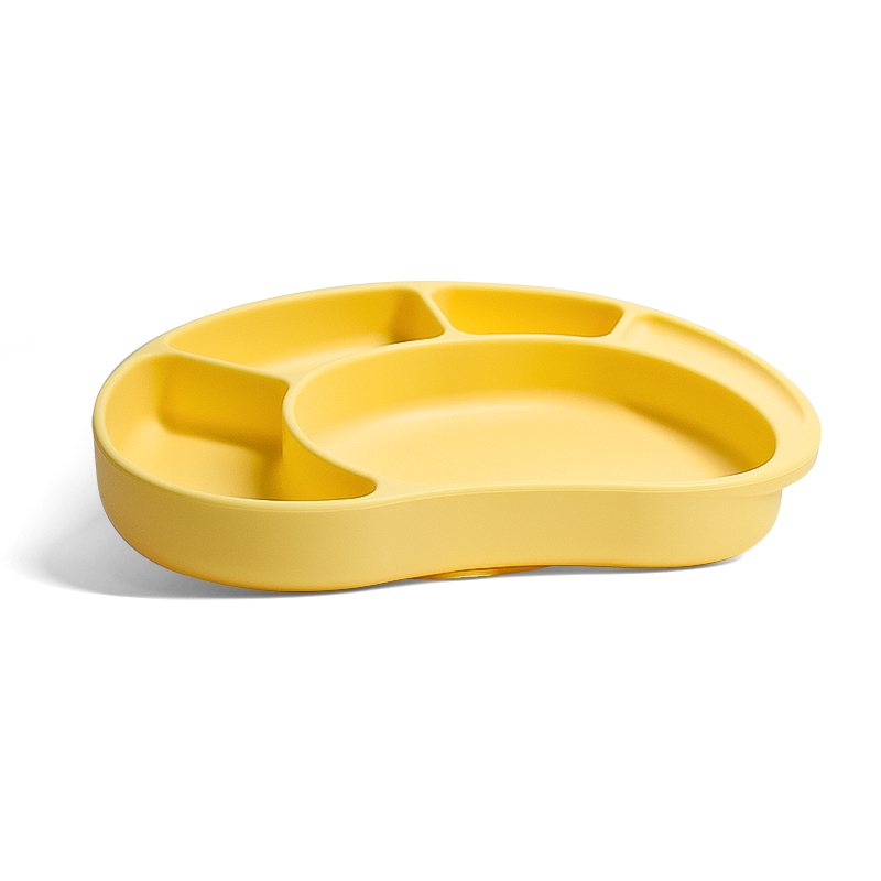 Foldable Food Non Slip Rack Dish Divider Mold Animal Rice Meal Mat Baby Silicone Plate