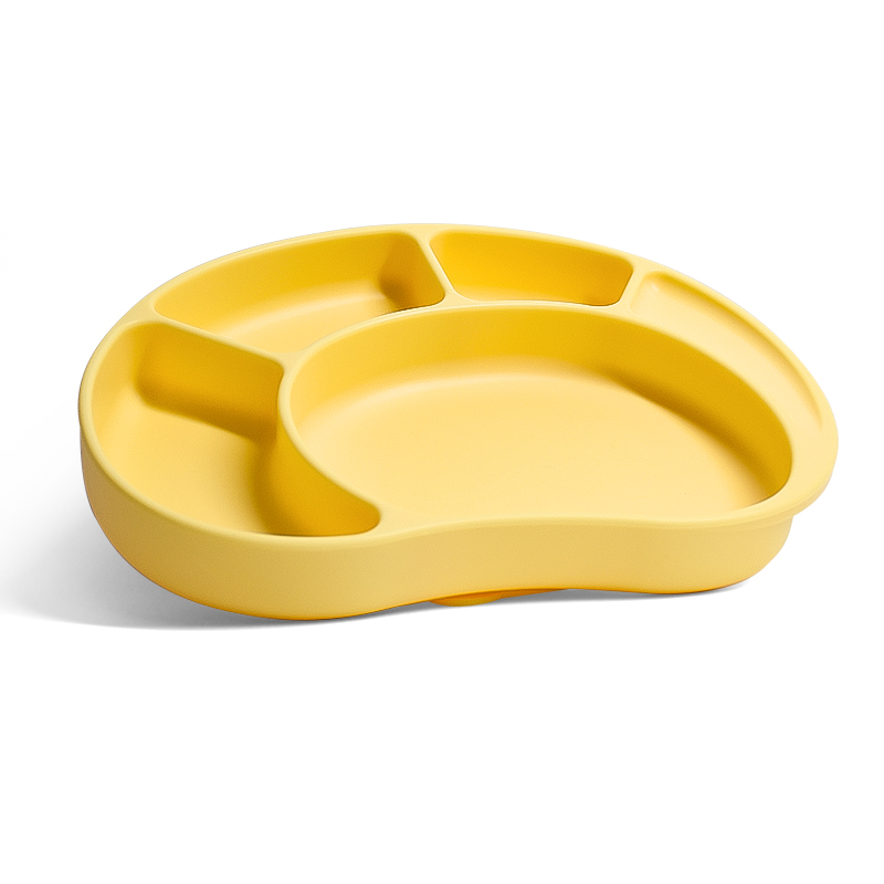 Silicone Grip Dish Bpa Free Microwave Dishwasher Suction Divided Baby Toddler Plate