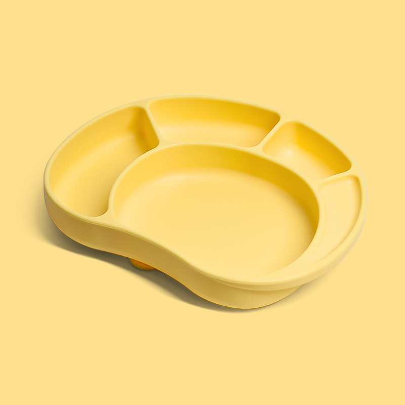 BPA free smile design unbreakable baby platemat OEM silicone suction plate for Kids