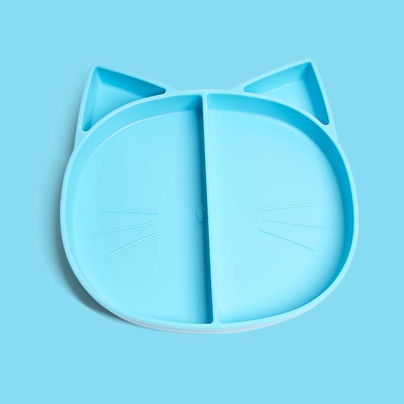 Cartoon Toddler Dinner Food Bowl Placemat Waterproof Children Baby Silicone Plate