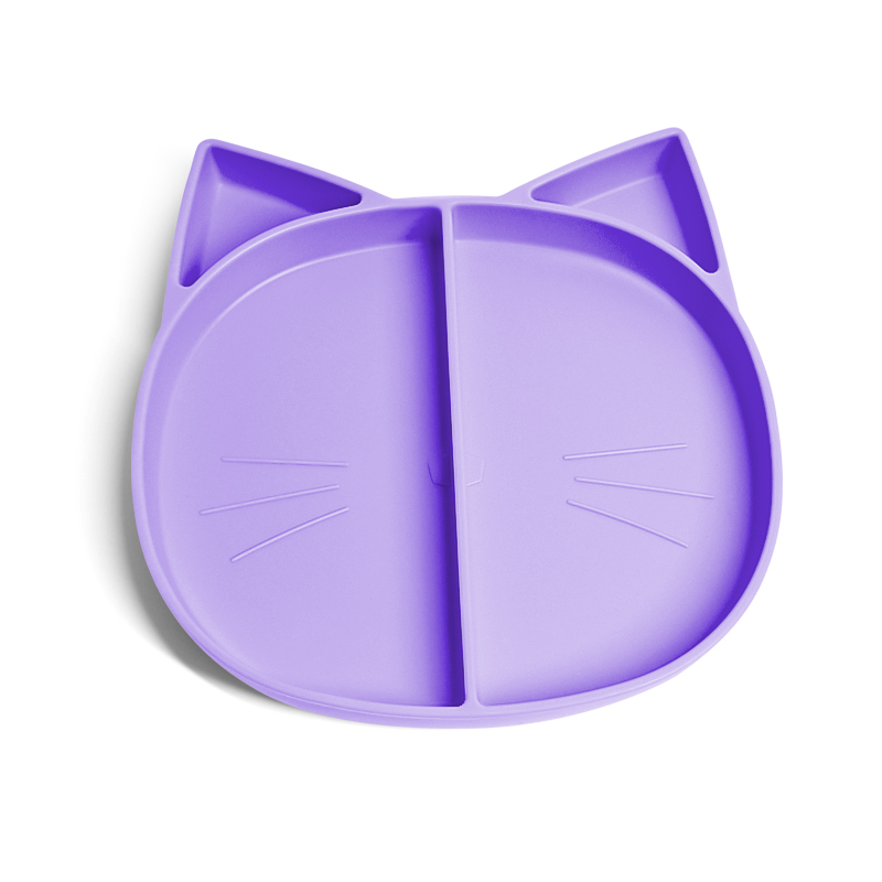 Food Grade Non Slip Placemat Infant Learning Tableware Baby Eating Silicone Plate