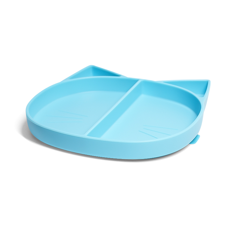 Flexo Dishwasher Highchair Tray Strong Grip Dinosaur Divided Kids Baby Silicone Plate