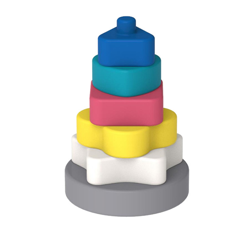 Legenday Bpa Free Organic Soft Building Toys Ring Tower Montessori Educational Stacking Toys