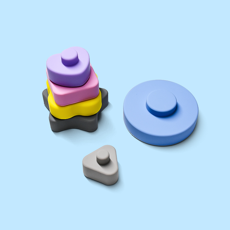 Legenday Eco Friendly Heart Shape Silicone Baby Teethes Newborn Silicone Stacking Building Block Toys Silicone Beach Toy