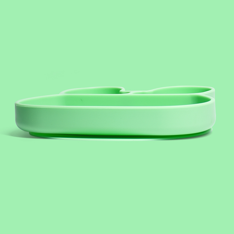 Suction Placemat Set Non-Slip Toddlers Food Feeding Silicone Baby Plate