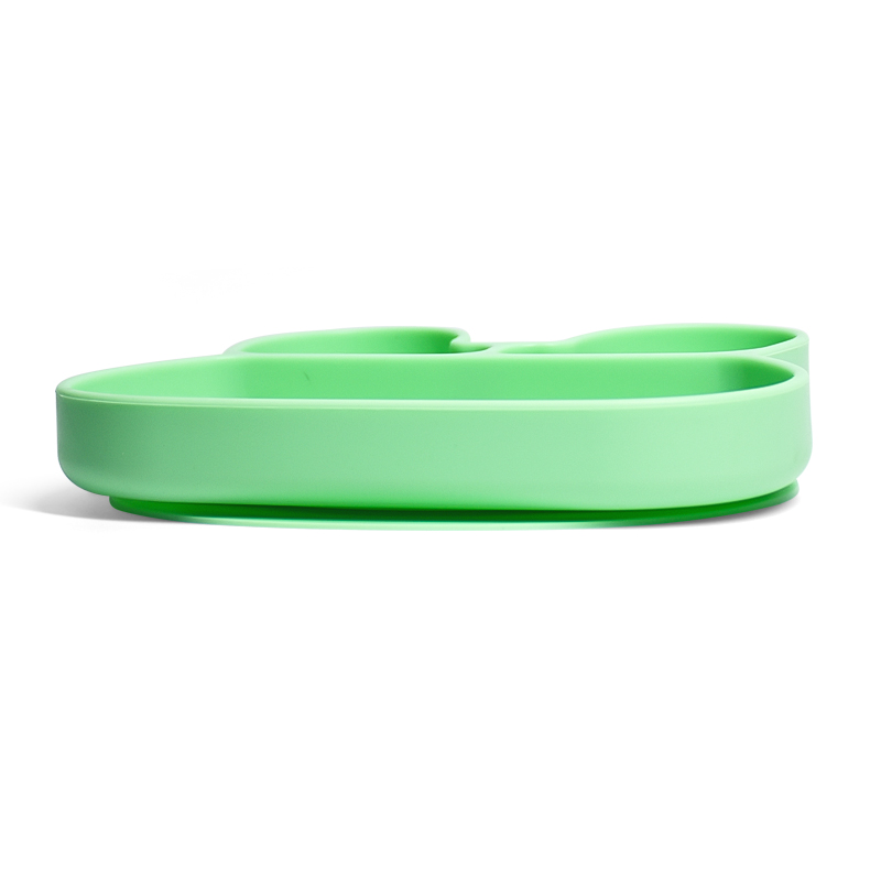 Waterproof Baby Feeding Round Shaped Silicone Dinner Plate With Suction