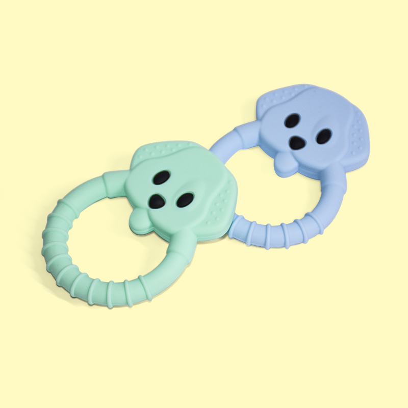 Legenday Food Grade Soft Ring Design Baby Teething Toys Set Bpa Free Animal Shape Color Silicone Baby Teethers