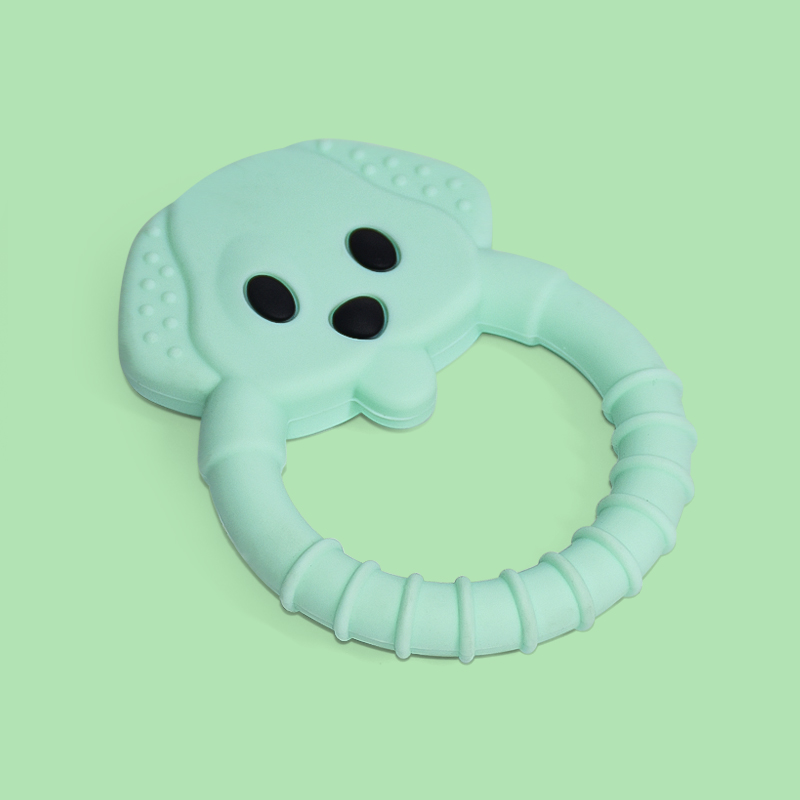 Legenday Wholesale Eco Friendly Silicone Chewable Baby Teether Chewing Toys Food Grade Baby Teether Ring