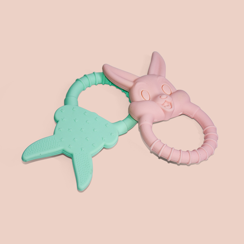 Legenday Wholesale Sensory Toys Chewing Fruit Cute Shape Food Grade Silicon Baby Chewing Teethers
