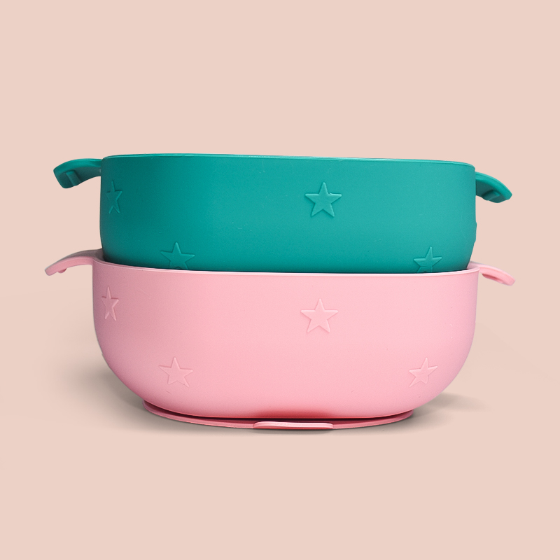 Legenday Eco-Friendly Non-Toxic Strong Suction Bowl Baby Feeding Set Bpa Free Silicone Baby Snack Bowls