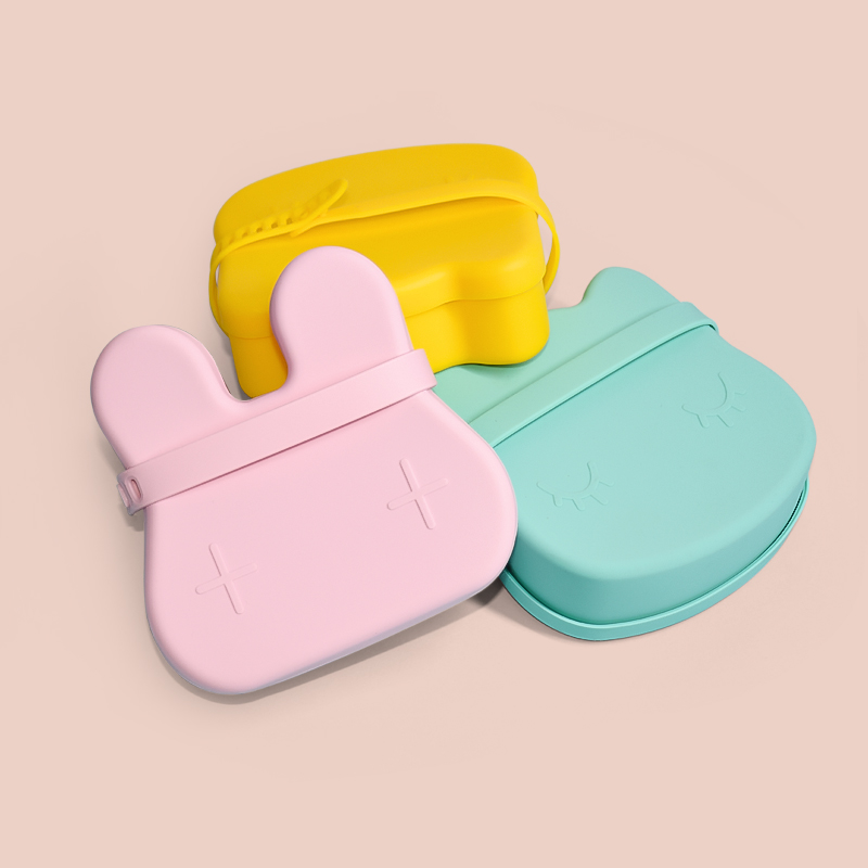 Legenday Custom Insulated Silicone Stainless Steel Tiffin Eco Friendly Snack Box Plates Storage Leakproof Sippy Cup With Lids