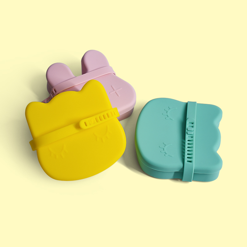 Legenday High Quality Silicone Lunch Boxes With Silicone Lids/Cute Candy Silicone Snack Cup/Stackable Box For Baby Food