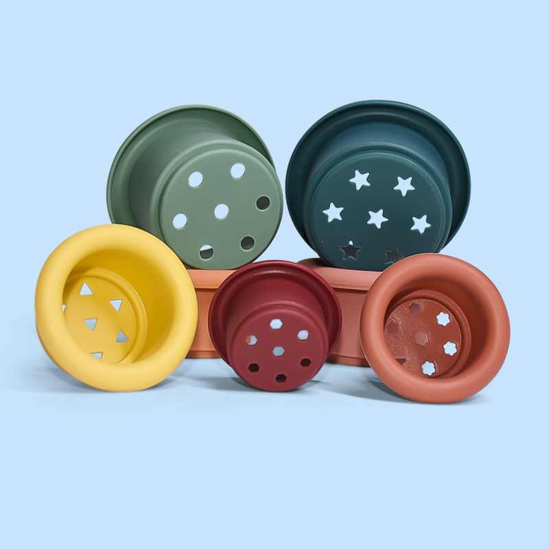 Legenday New Arrivals New Cognition Match Preschool Montessori Toys Early Education For Kids Silicone Nesting Toy