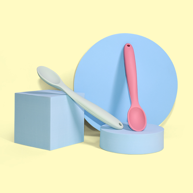 Legenday High quality BPA Free Food Grade Silicone Baby Feeding Spoon and Fork Kids Fork And Spoon