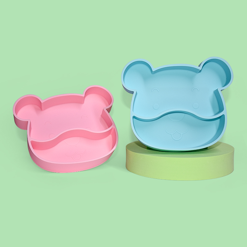 Legenday Food Grade Non Slip Toddler Feeding Set Silicone Suction Plate Bpa Free Divided Silicone Baby Plate