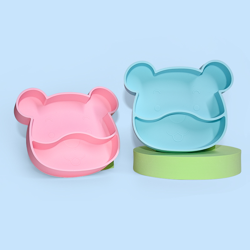 Legenday New Products Bpa Free Baby Dinner Plate Mat Kids Food Grade Silicone Suction Food Plate