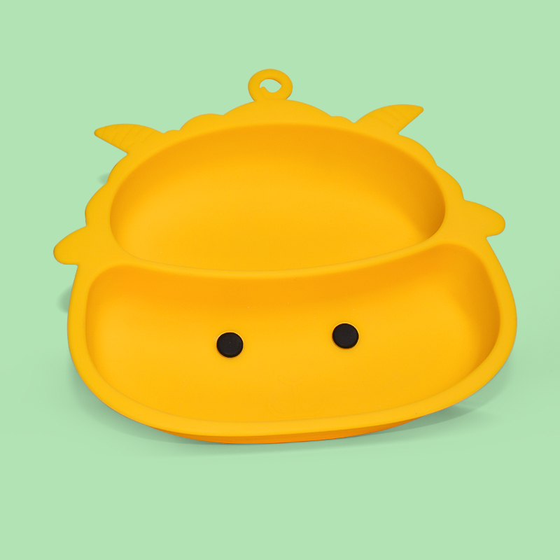Legenday 2021 Eco Friendly Hot Amazon Baby Eating Plate Divided Silicone Baby Suction Food Plate