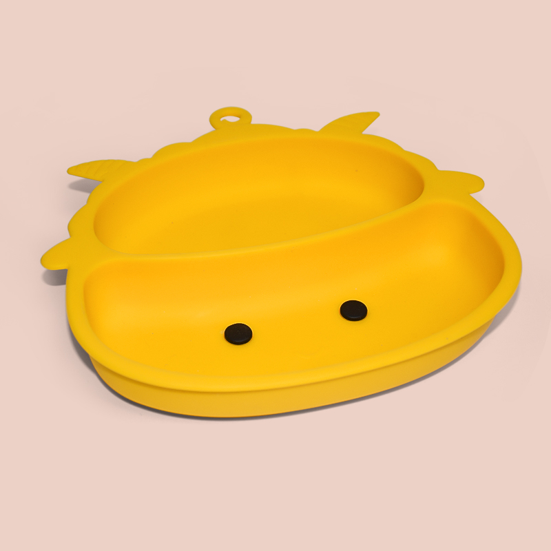 Legenday Amazon Hot Sale Kid Non-Slip Animal Suction Feeding Plates Silicone Baby Food Plate Silicon Travel Plate