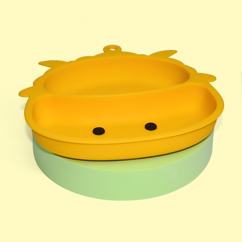 Legenday Wholesale Food Grade Bpa Free Soft Feeding Plate Suction Silicone Baby Cartoon Plate