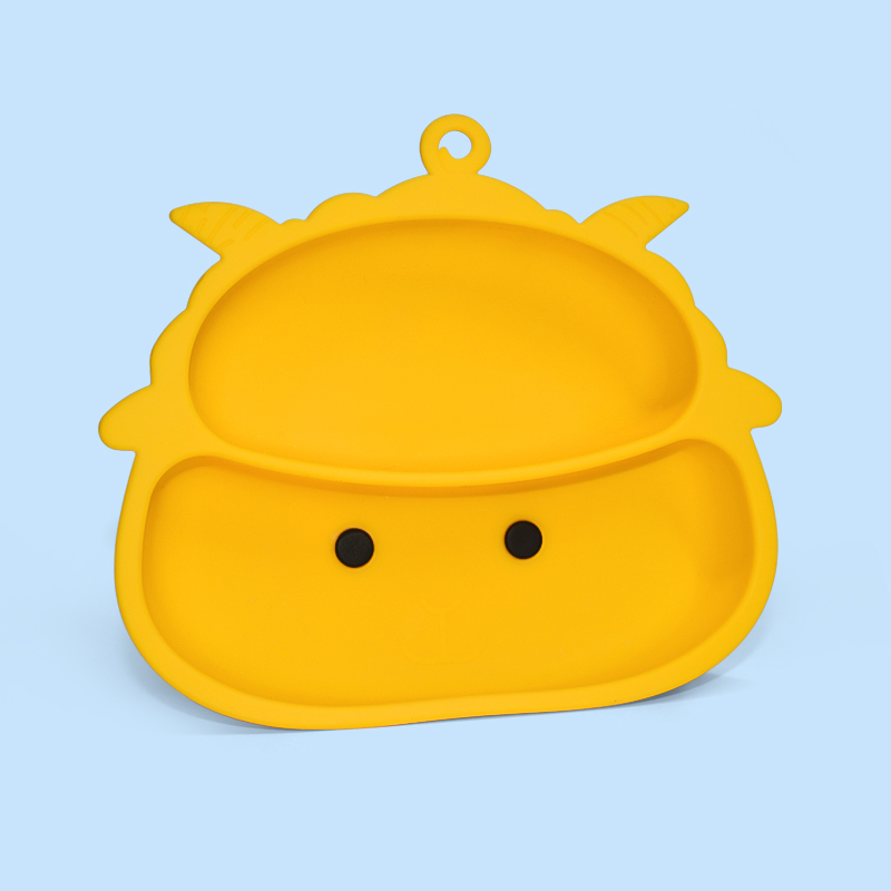 Legenday Safe Food Grade Bpa Free Baby Silicone Suction Baby Food Plate Feeding Training Baby Plates