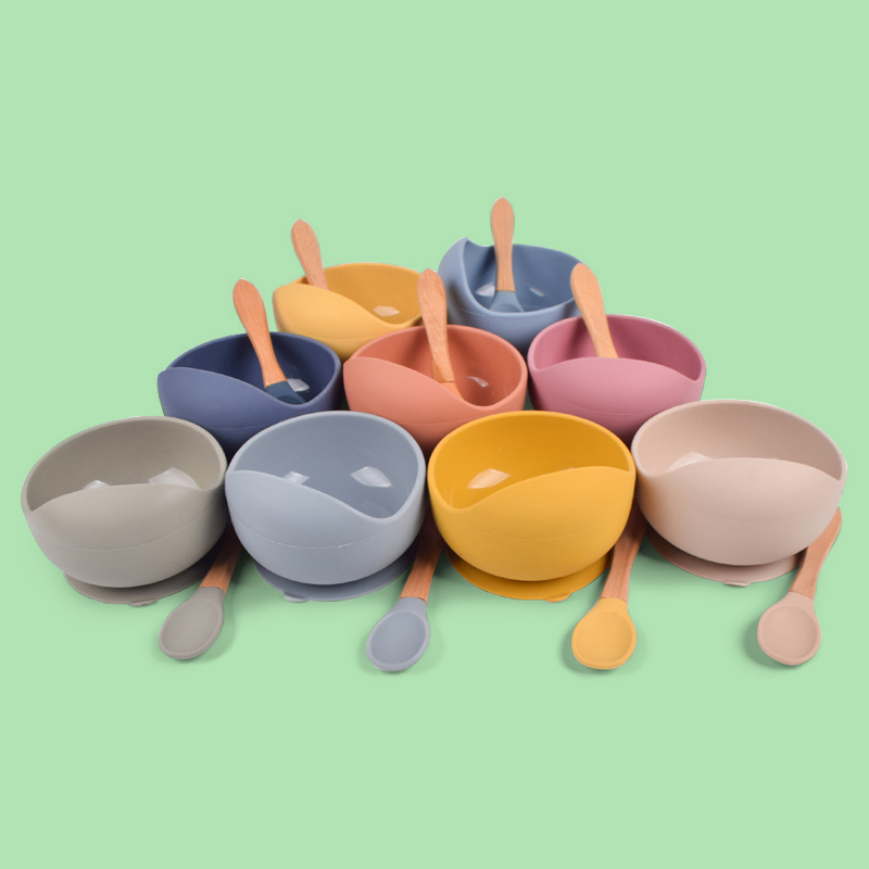 Legenday Custom Bpa Free Eco-Friendly Colorful Toddler Training Spoons Silicone Baby Bowl And Spoon