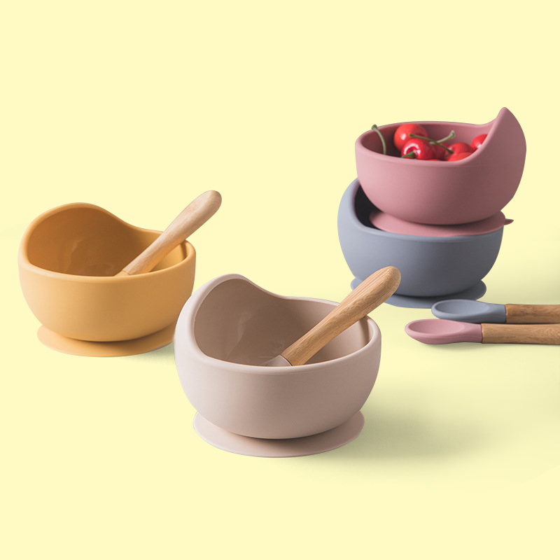 Legenday Eco-Friendly Food Grade Feeding Suction Set Silicone Baby Bowl And Spoon