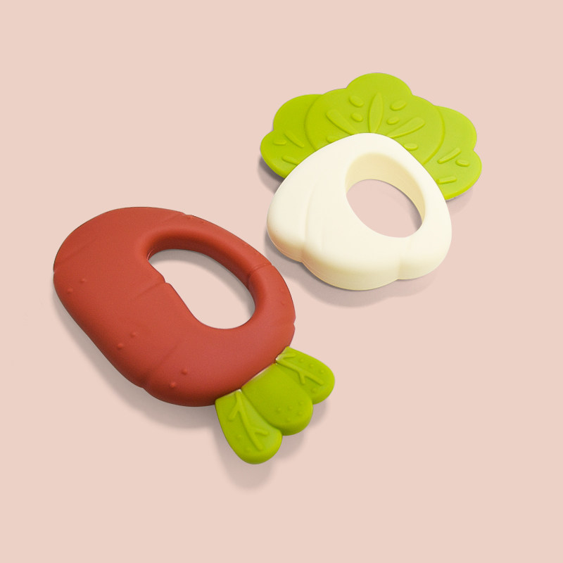 Legenday Eco-Friendly Baby Fruits Vegetable Shape Teether Food Grade Silicone Training Teether