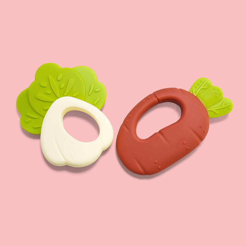 Legenday Bpa Free Safe Silicone Teether Toy Soft Vegetable Baby Teether Organic Funny Baby Teething Teether