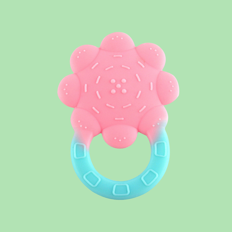 Legenday Wholesale Bpa Free Baby Teether Toys Training Food Grade Silicone Teething Ring