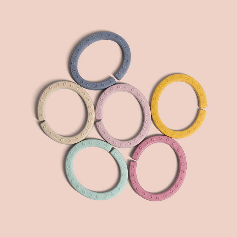 Legenday New Design Fruit Baby Teething Ring Food Grade Silicone Beads Teething Chew Toy