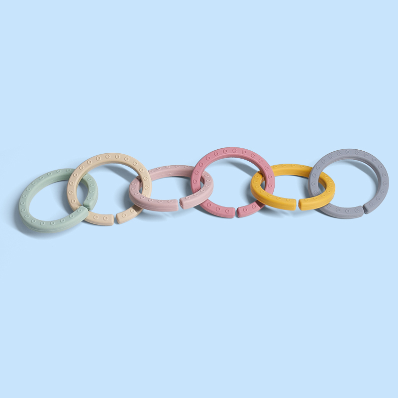 Legenday Hot Sales Food Grade Silicone Baby Fruit Teether Ring Baby Chew Toy Teether