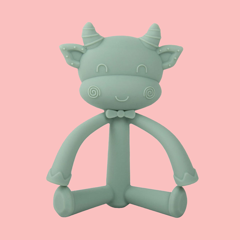 Wholesale BPA Free animal Shape Baby Teething Toy Silicone Best Baby Teether