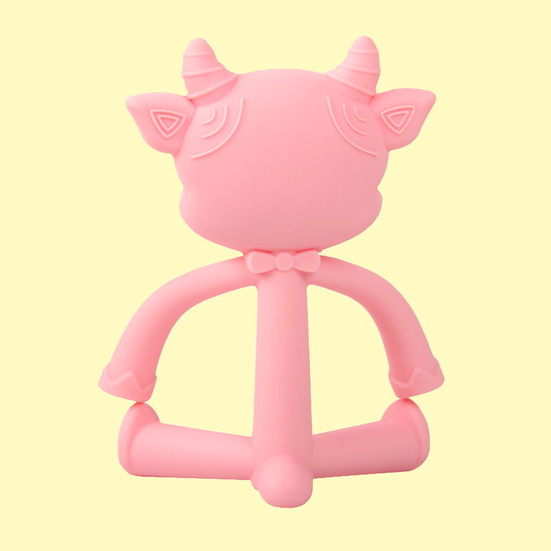 New Design Soft Baby Teething Toys BPA Free Food Grade Silicone link ring Teether