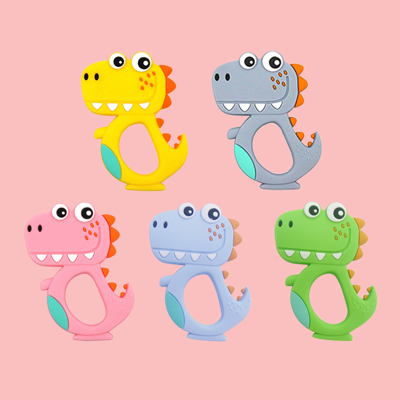 Legenday Custom Silicone Baby Cartoon Teething Teether Toys Multiplecolor Silicone Infant Teething Toy