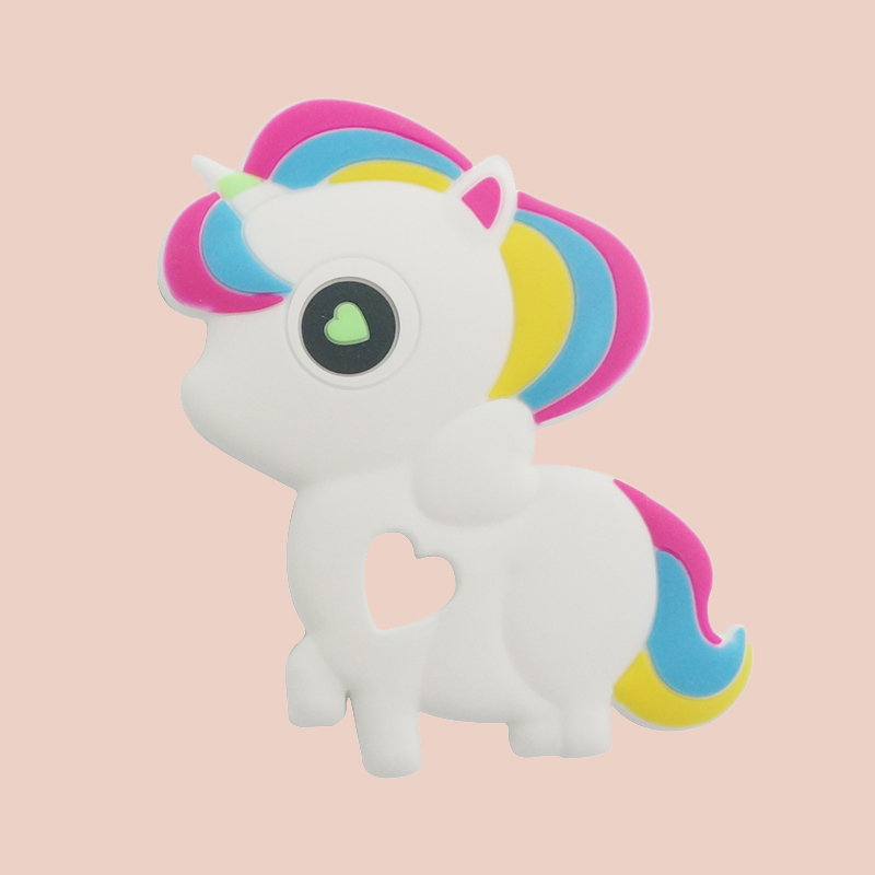 Legenday 100% Food Grade Bpa Free Cute Silicone Unicorn Baby Teether Baby Silicone Teether Toy