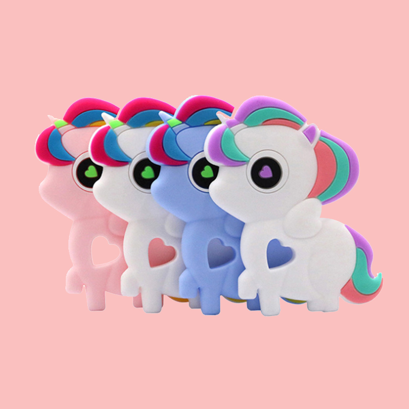 Legenday New Arrivals Eco-Friendly Baby Silicone Teether Teething Toys Bpa Free Baby Unicorn Teether