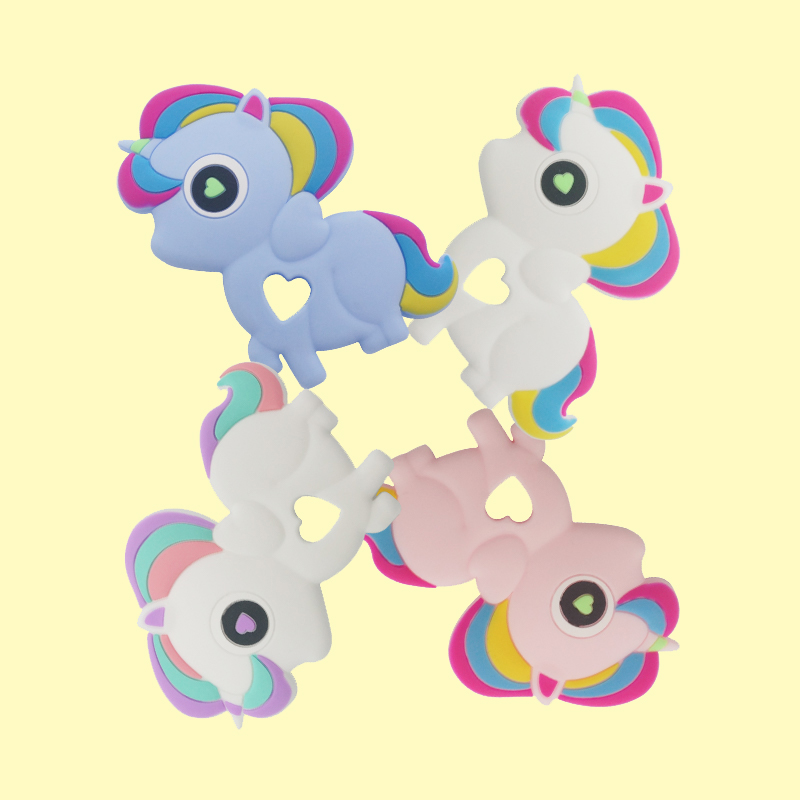 Legenday Hot Sale Bpa Free Unicorn Shape Silicone Baby Teether Chewing Toy Food Grade Silicone Teethers