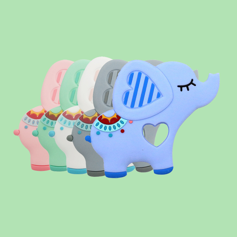 Legenday Soft Food Grade Silicone Elephant Shape Soother Teether Bpa Free Baby Teething Toy